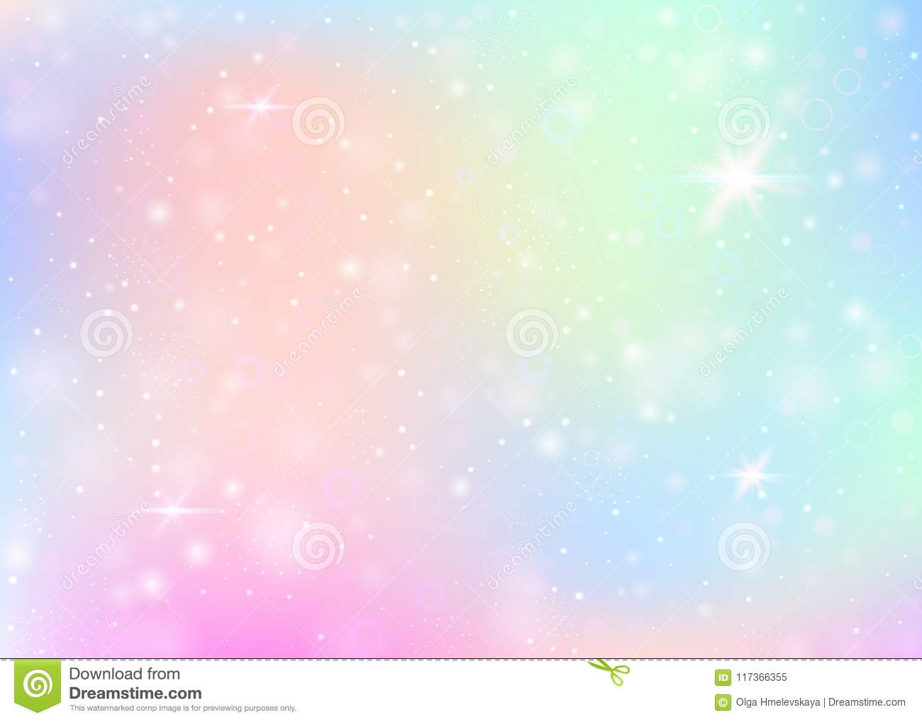 Cute Pink Wallpaper 1980 Unicorn Background With Rainbow Mesh Stock Vector