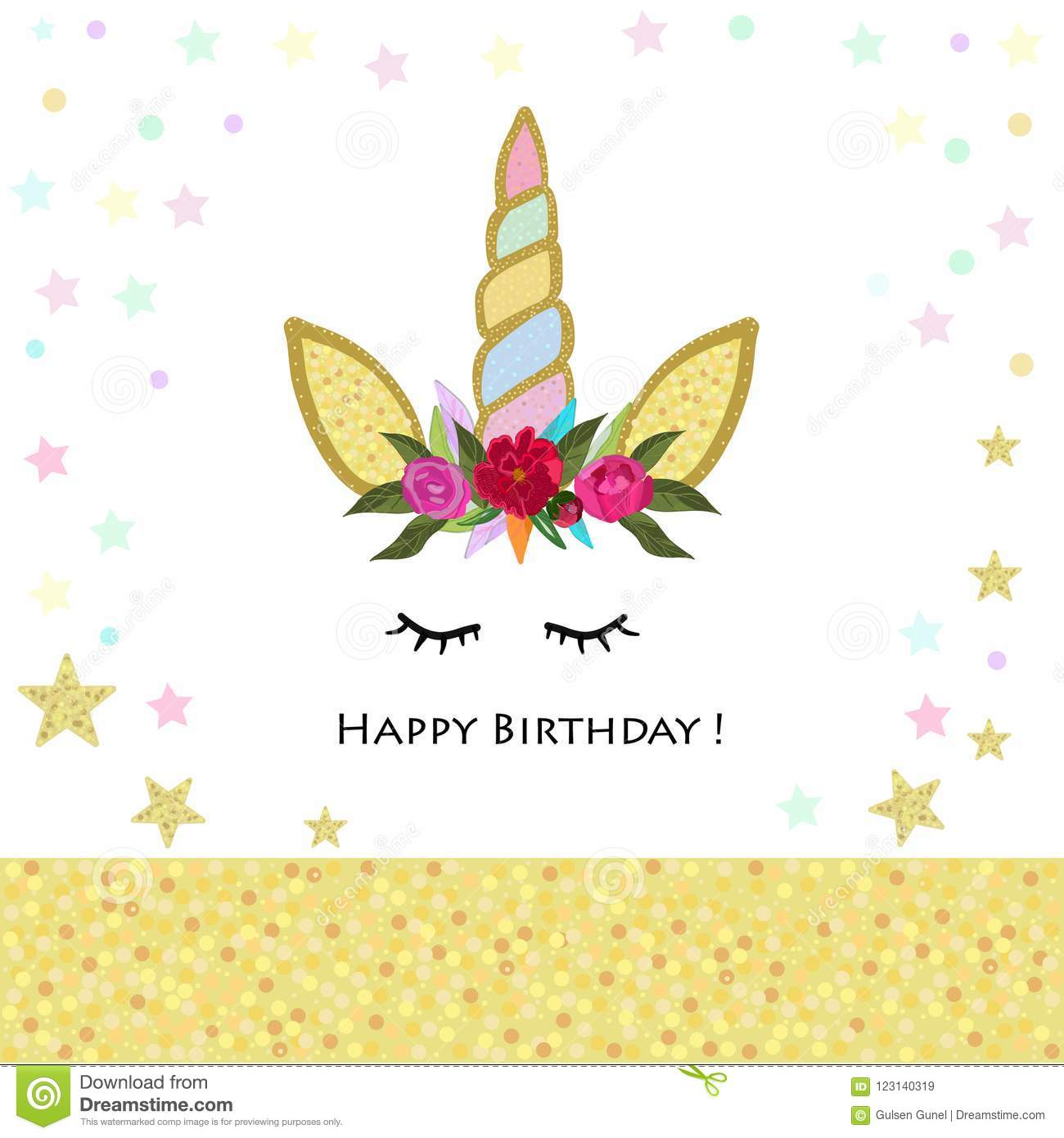 Unicorn Birthday Invitation Magical Unicorn Birthday