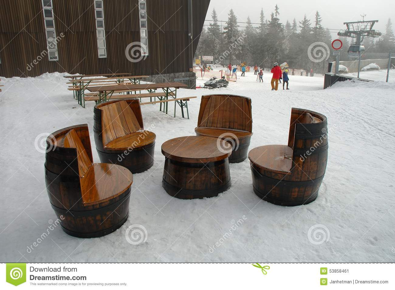 old wooden barrel chairs luxury portable beach unique and table made of barrels