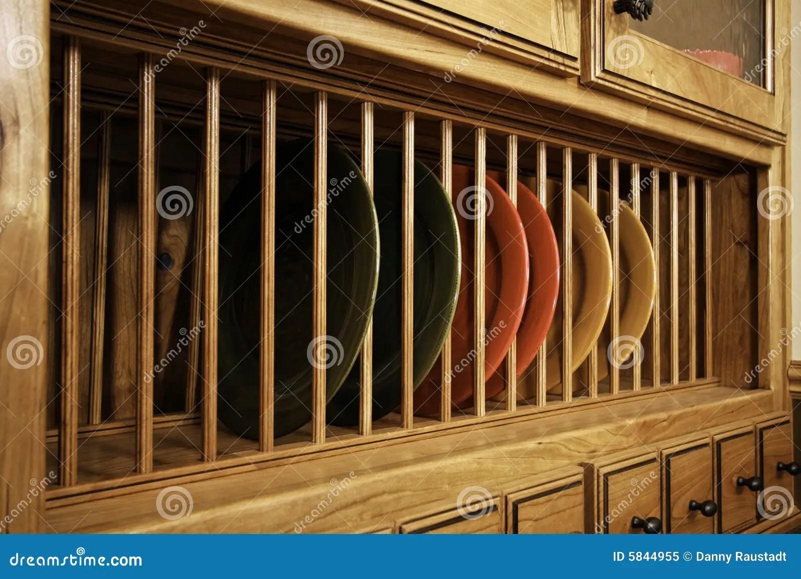 Unique Kitchen Cabinet Dish Storage Stock Image  Image of