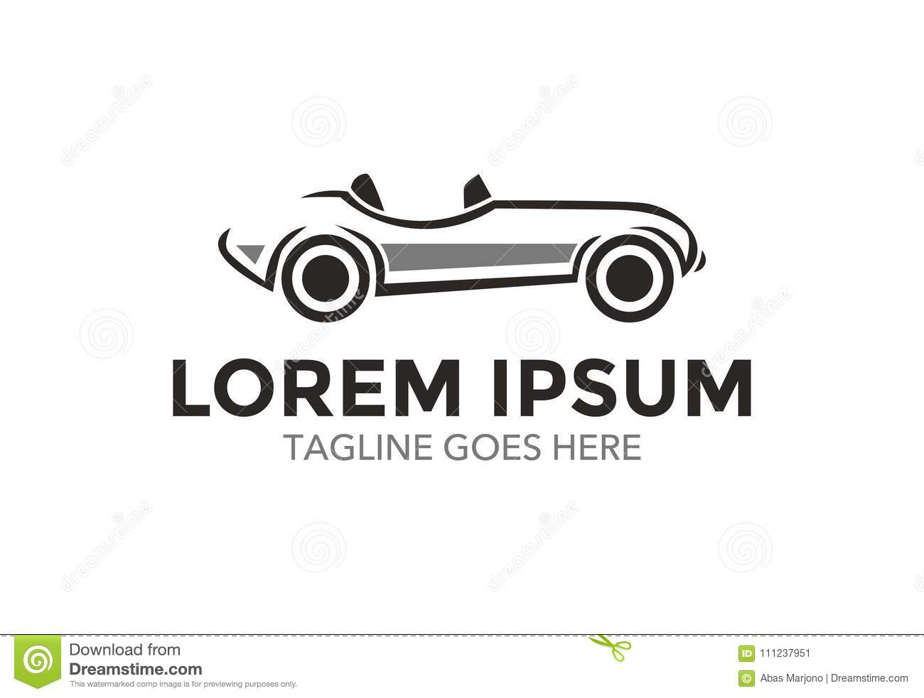 Unique And Outstanding Classic Car Logo. Vector