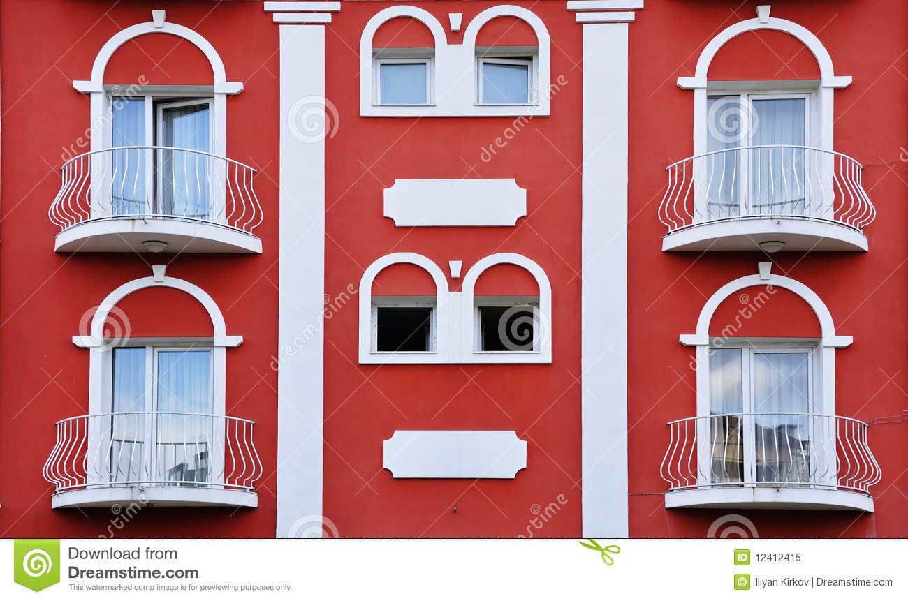 Unique Red Middle Ages House Stock Image  Image of