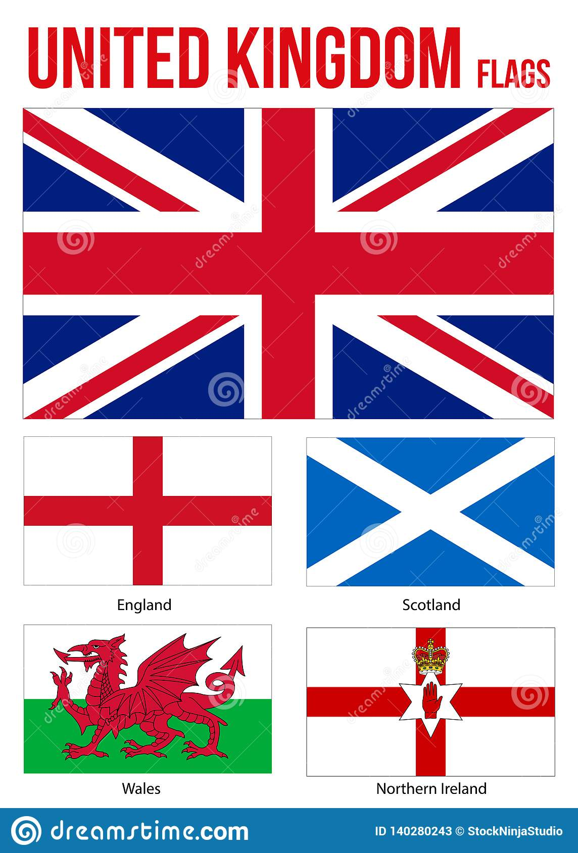 United Kingdom Countries Flags Collection Flag Of England
