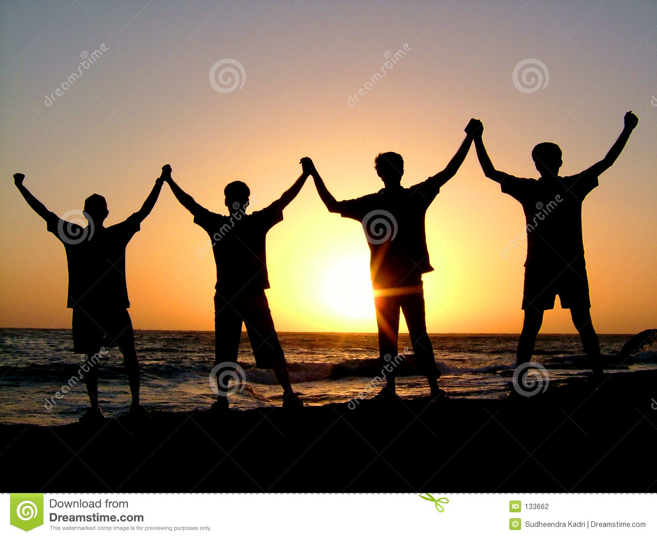 Divided We Fall Wallpaper United We Stand Stock Photo Image Of Beach Happiness