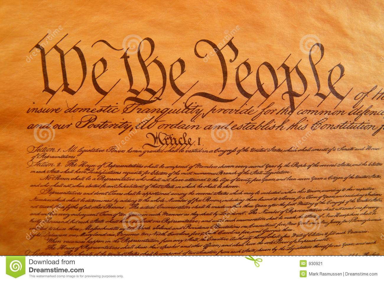 United States Constitution Stock Image Image Of Patiotic