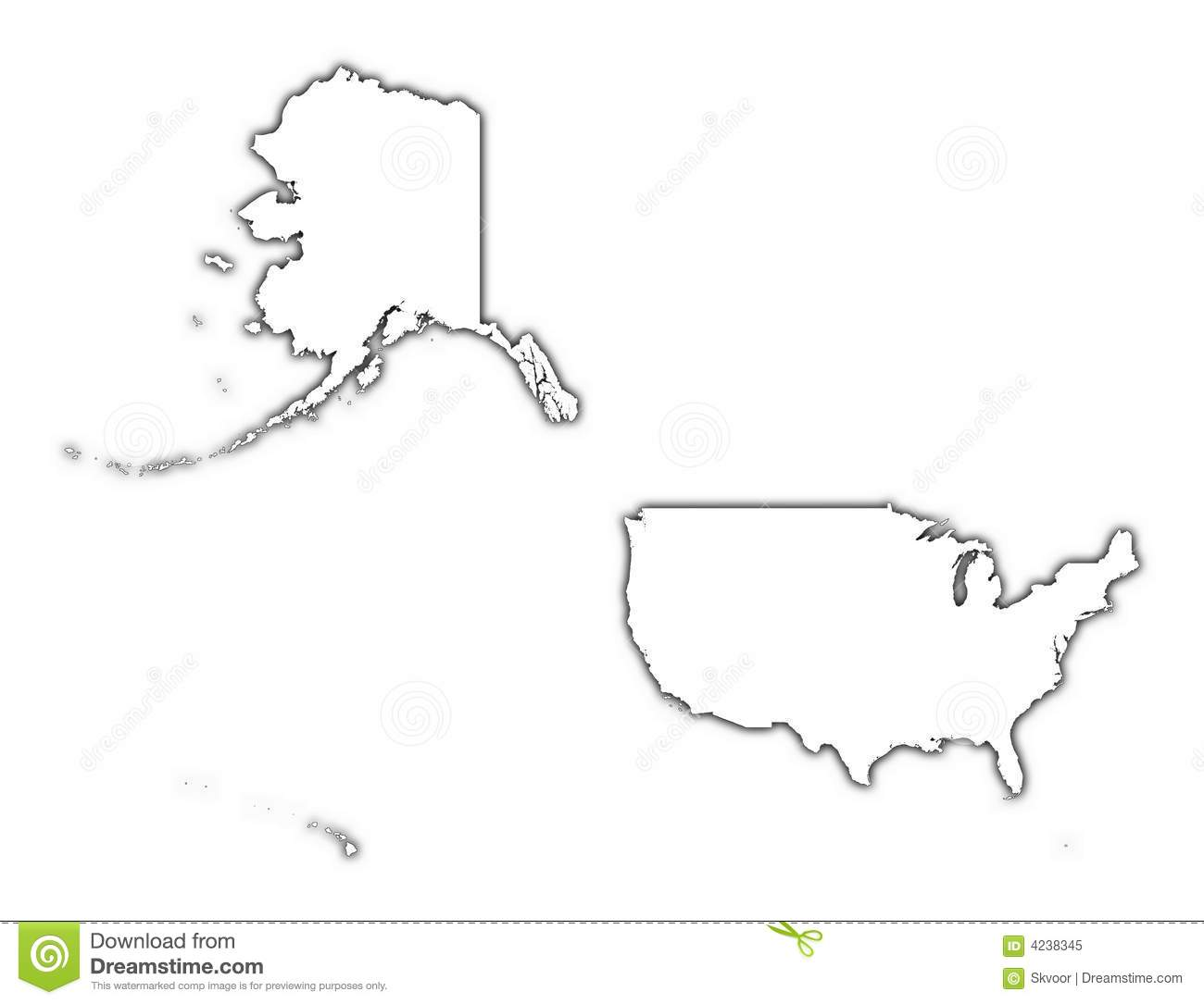 United States Outline Map Royalty Free Stock Photo