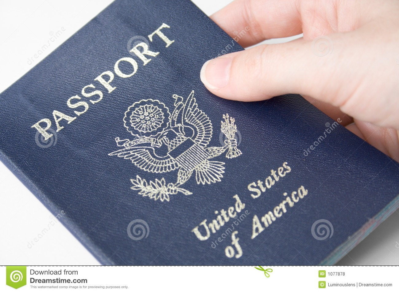 United States Passport Stock Photo Image Of Hand America