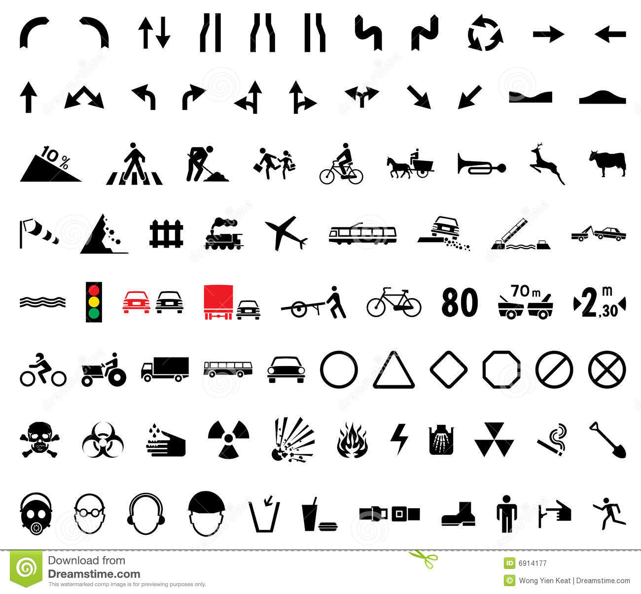 Universal Pictograms Royalty Free Stock Photography