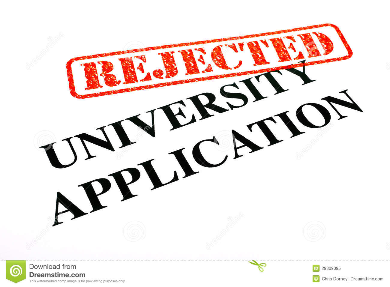 University Application REJECTED Royalty Free Stock Photo