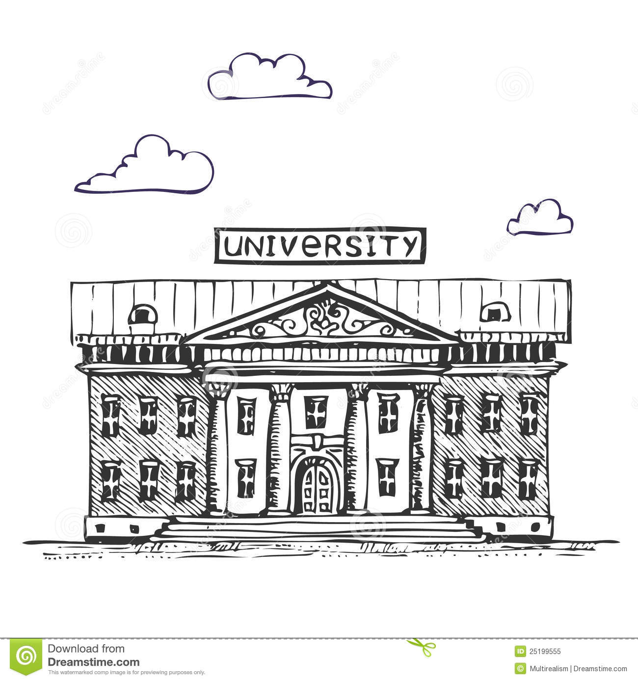 University building stock vector. Illustration of