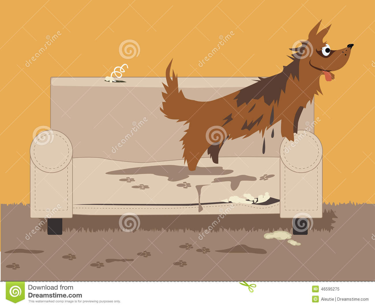 Unruly Dog Stock Vector Image 46595275