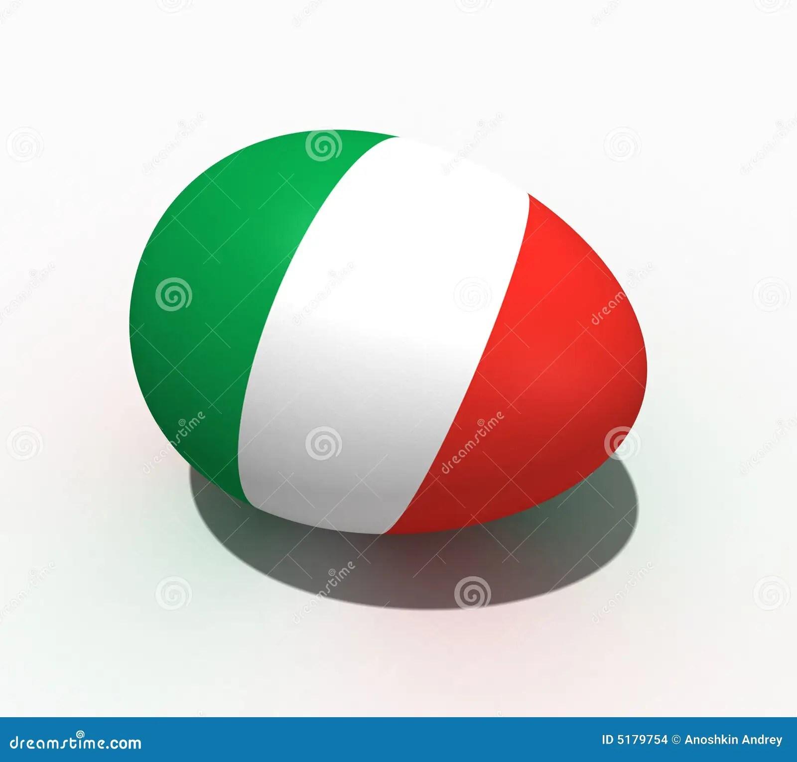 Uovo Di Pasqua  Bandierina DellItalia Immagini Stock
