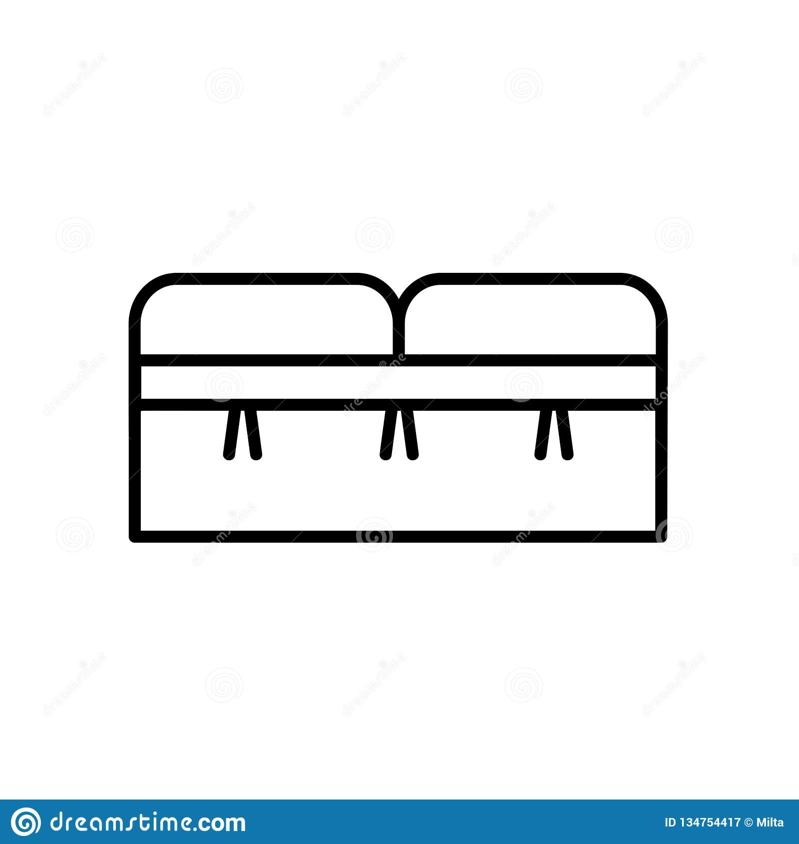 https www dreamstime com upholstered storage leather bench seat entryway patio furniture vector line icon isolated object image134754417