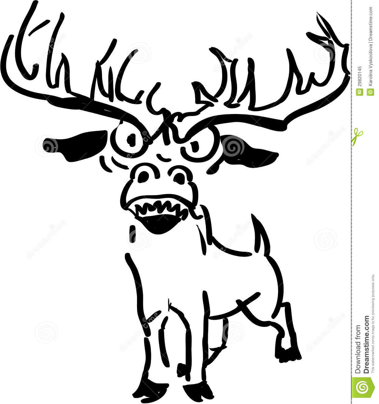 Upset And Angry Reindeer Stock Illustration Image Of Deer
