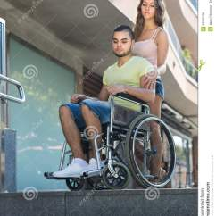 Chair Design Styles Office Chairs For Lower Back Support Upset Wife With Man In Wheelchair On Stairs Stock Photo - Image: 50065796