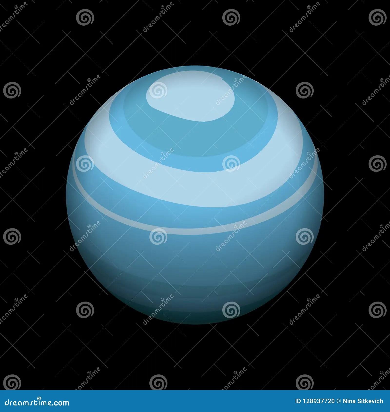 hight resolution of uranus icon isometric style