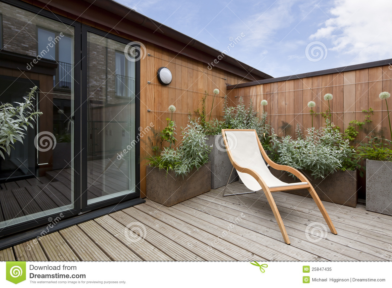 modern wood chair plans low folding beach urban balcony garden stock image. image of deckchair - 25847435