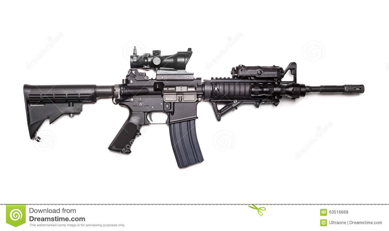 Us Army M4a1 Carbine Stock Photo Image Of Second Enforcement