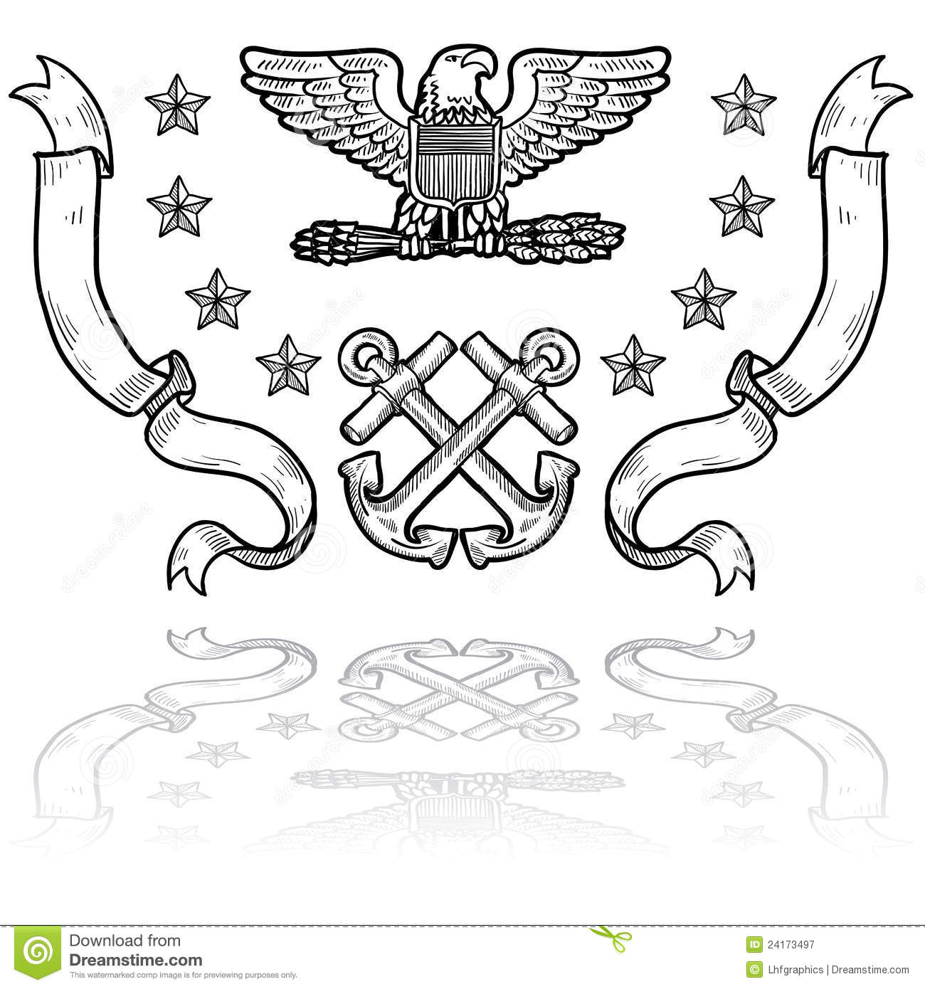 Us Navy Rank Insignia Vector Illustration