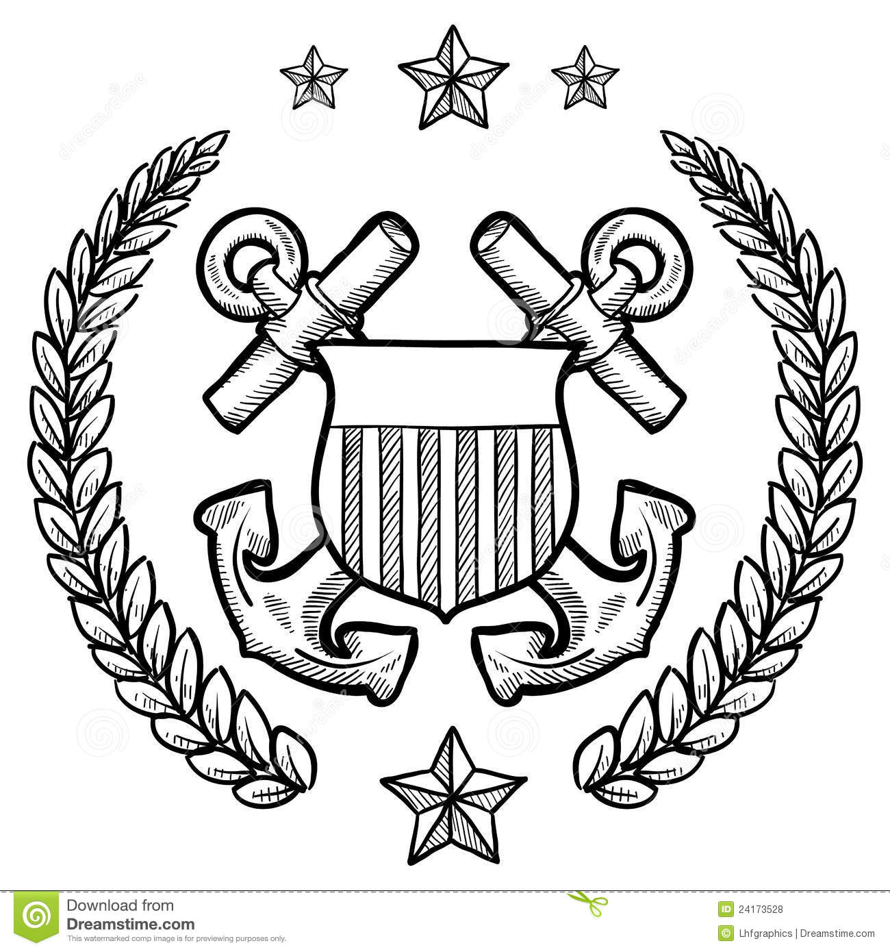 Us Navy Insignia With Wreath Royalty Free Stock Photos