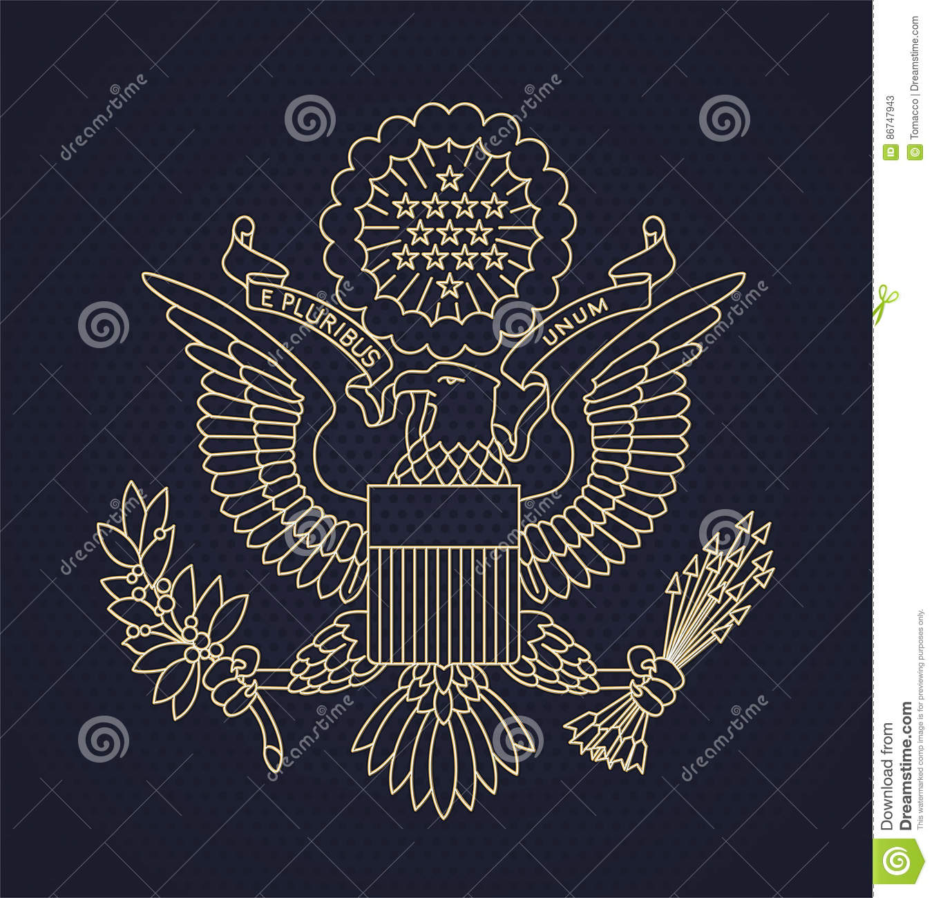 Us Passport Seal Stock Illustration Illustration Of