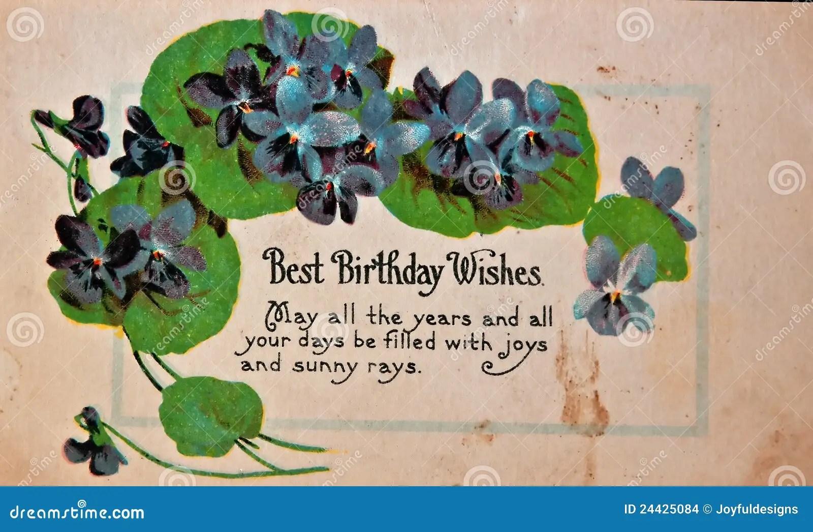 USA CIRCA 1900 Vintage Birthday Card Stock Photo Image