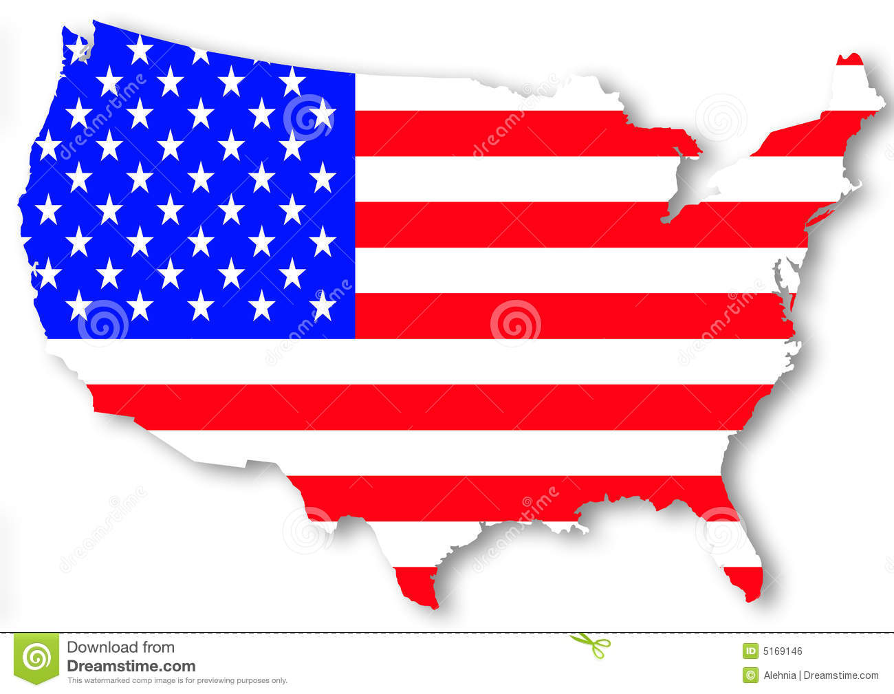 Usa National Flag Stock Illustration Image Of Silhouette
