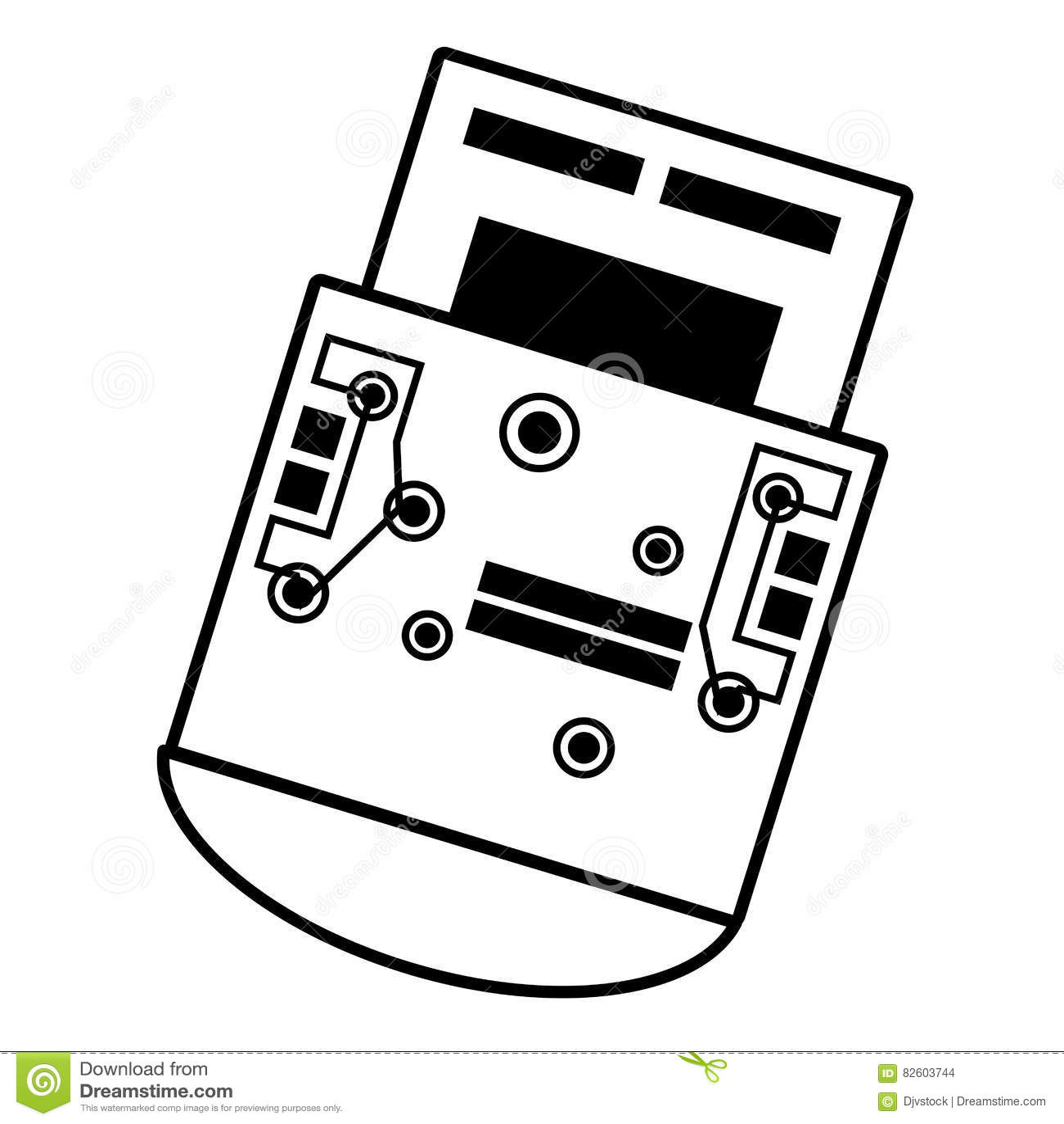 Usb Circuit Design Vector Illustration