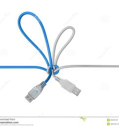 usb wire tied in a knot [ 1300 x 1129 Pixel ]