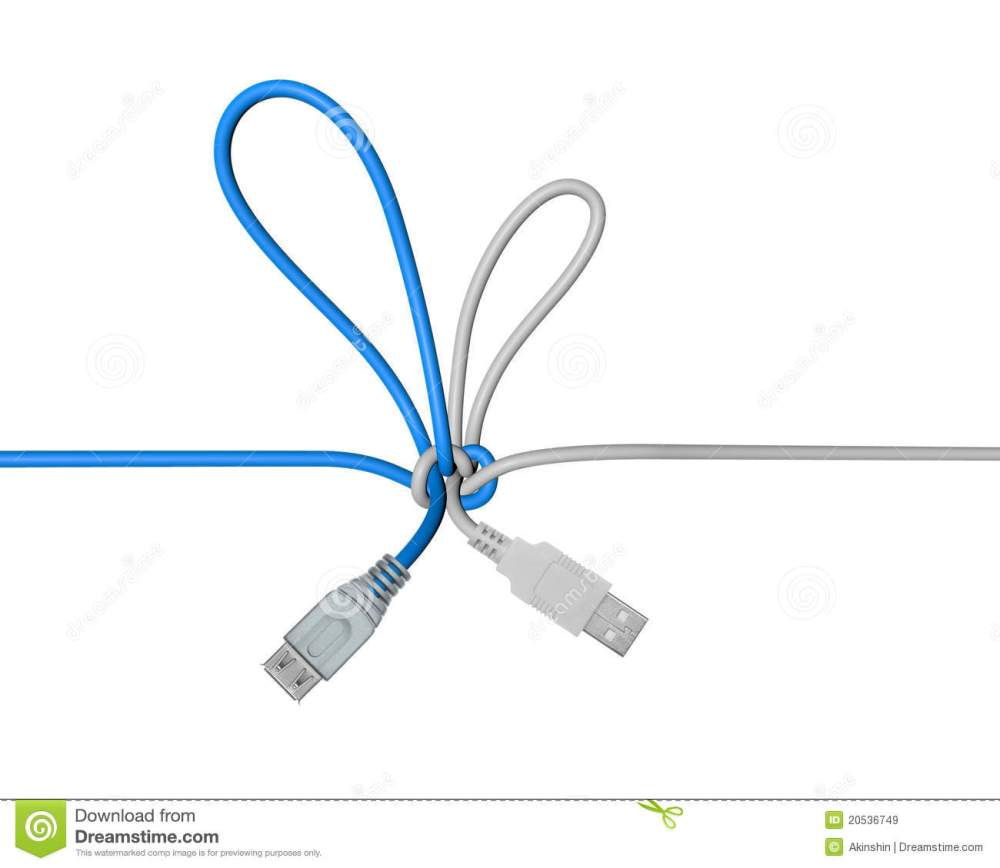 medium resolution of usb wire tied in a knot