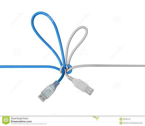 small resolution of usb wire tied in a knot