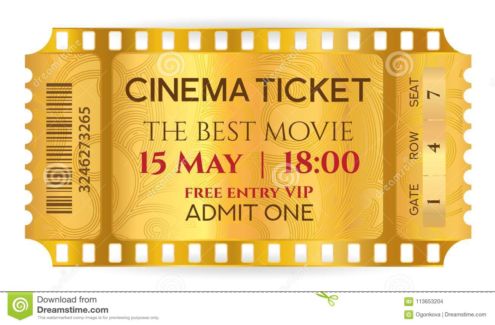 cinema ticket golden ticket