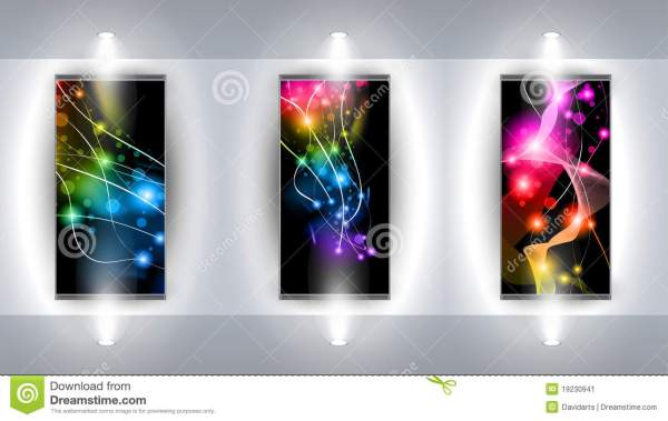 Art With 3 Artistic Background Stock Vector