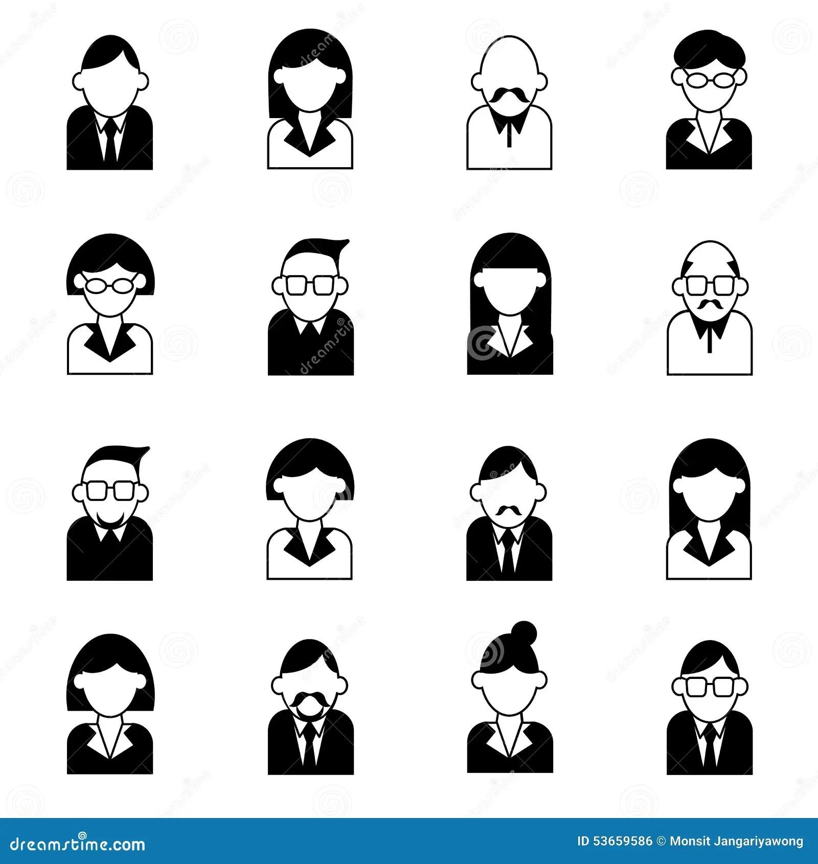 User Management Icon Set Vector Illustration Stock Vector