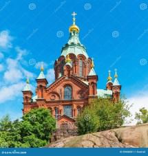 Uspenski Cathedral In Helsinki Finland Stock