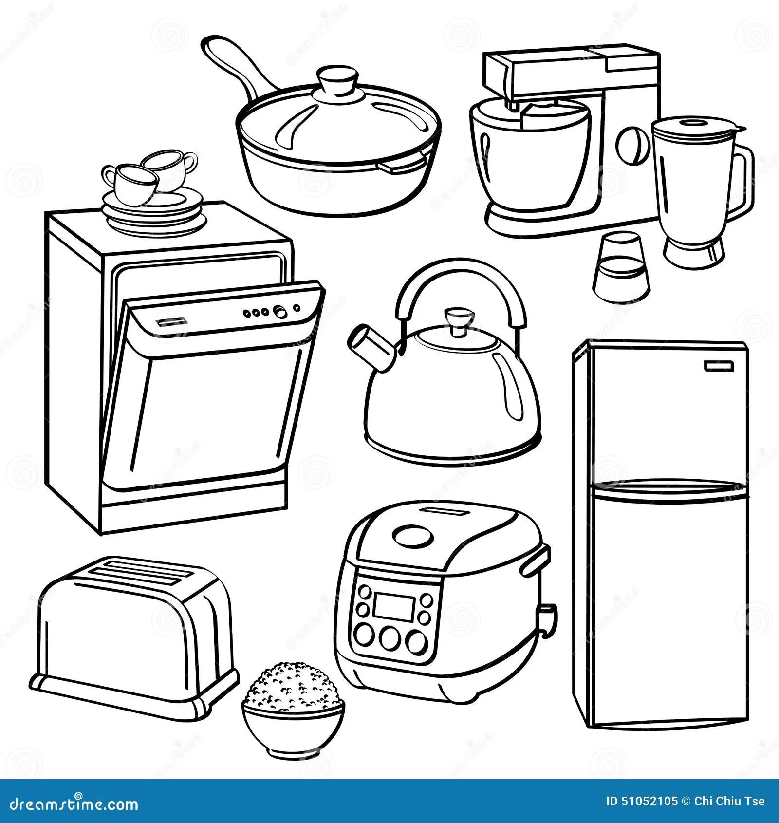 Ustensiles Et Appareils De Cuisine Illustration Stock