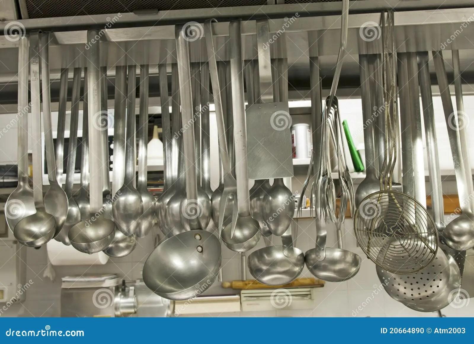 Utensilios En Un Restaurante De La Cocina Foto de archivo