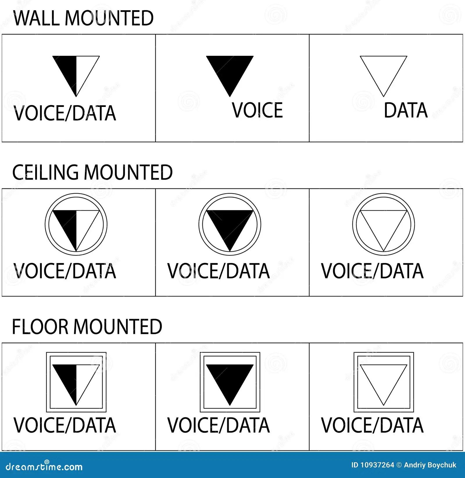 For The Cat5 Cable Rj45 Jack Wiring Diagram Free Download Uttagsymboltelekommunikation Vektor Illustrationer