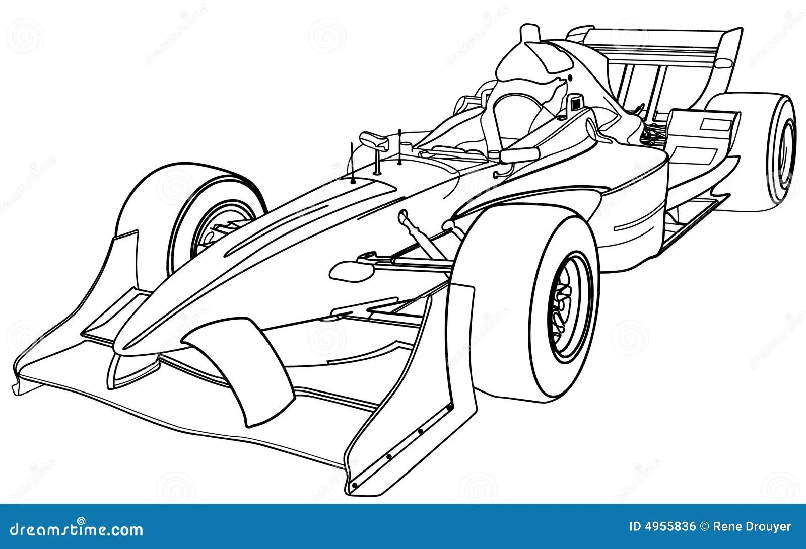 Vehicule De Formule 1 Illustration De Vecteur