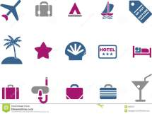 Vacation Icon Set Stock Vector. Of Holiday