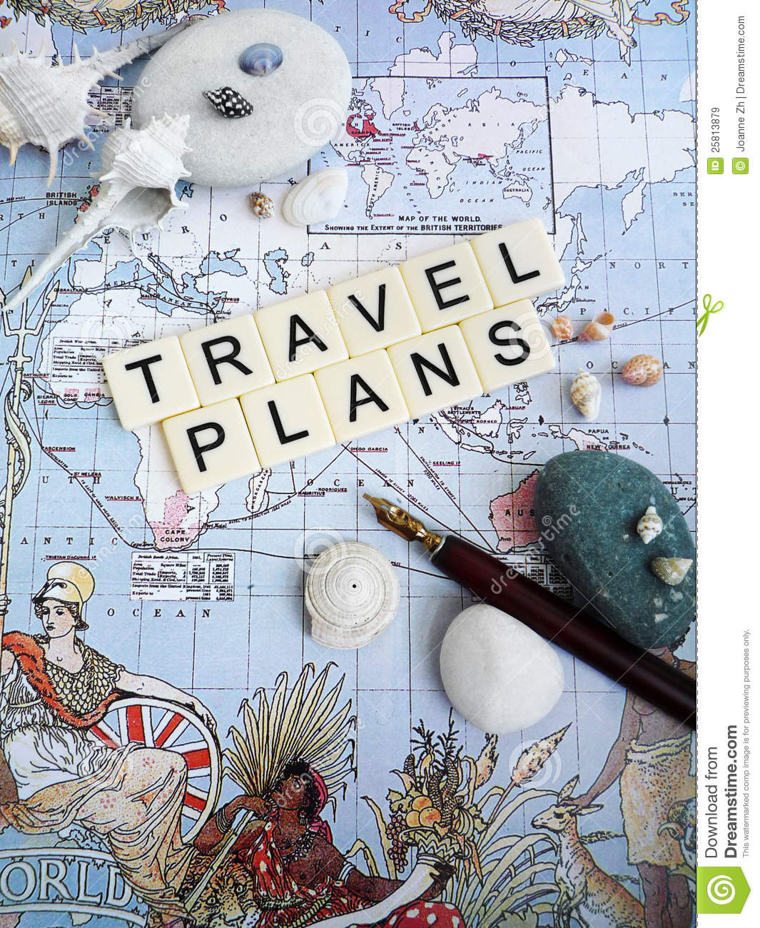 Vacation Planning Concept Stock Image Image Of
