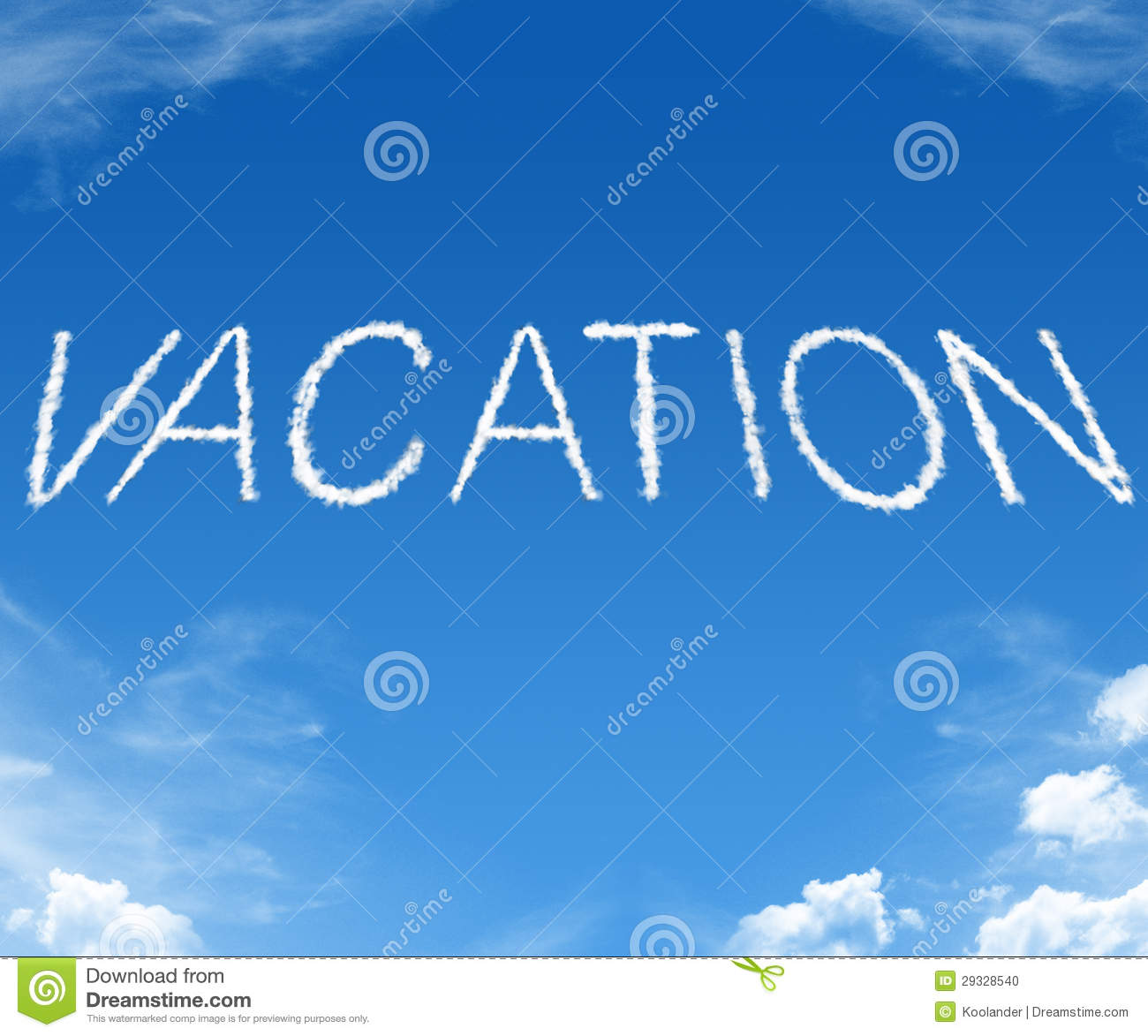 Vacation Word Cloud Stock Photo 29328540 Megapixl