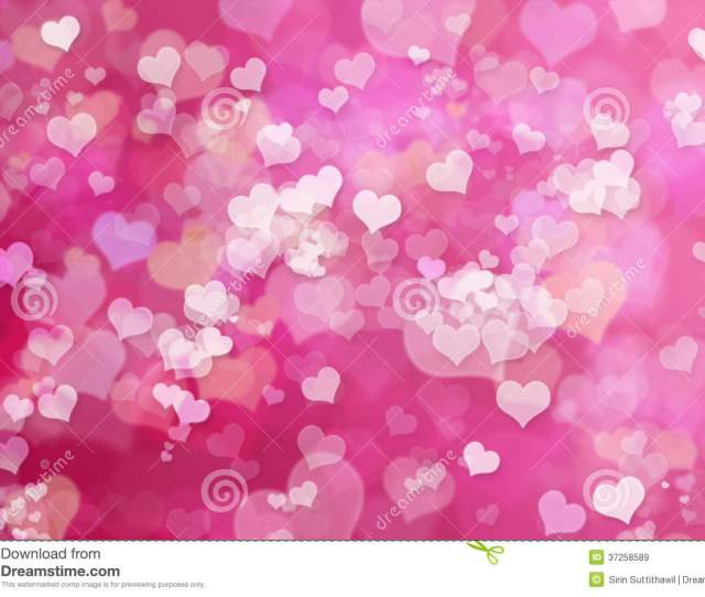 Valentine Hearts Abstract Pink Background Valent