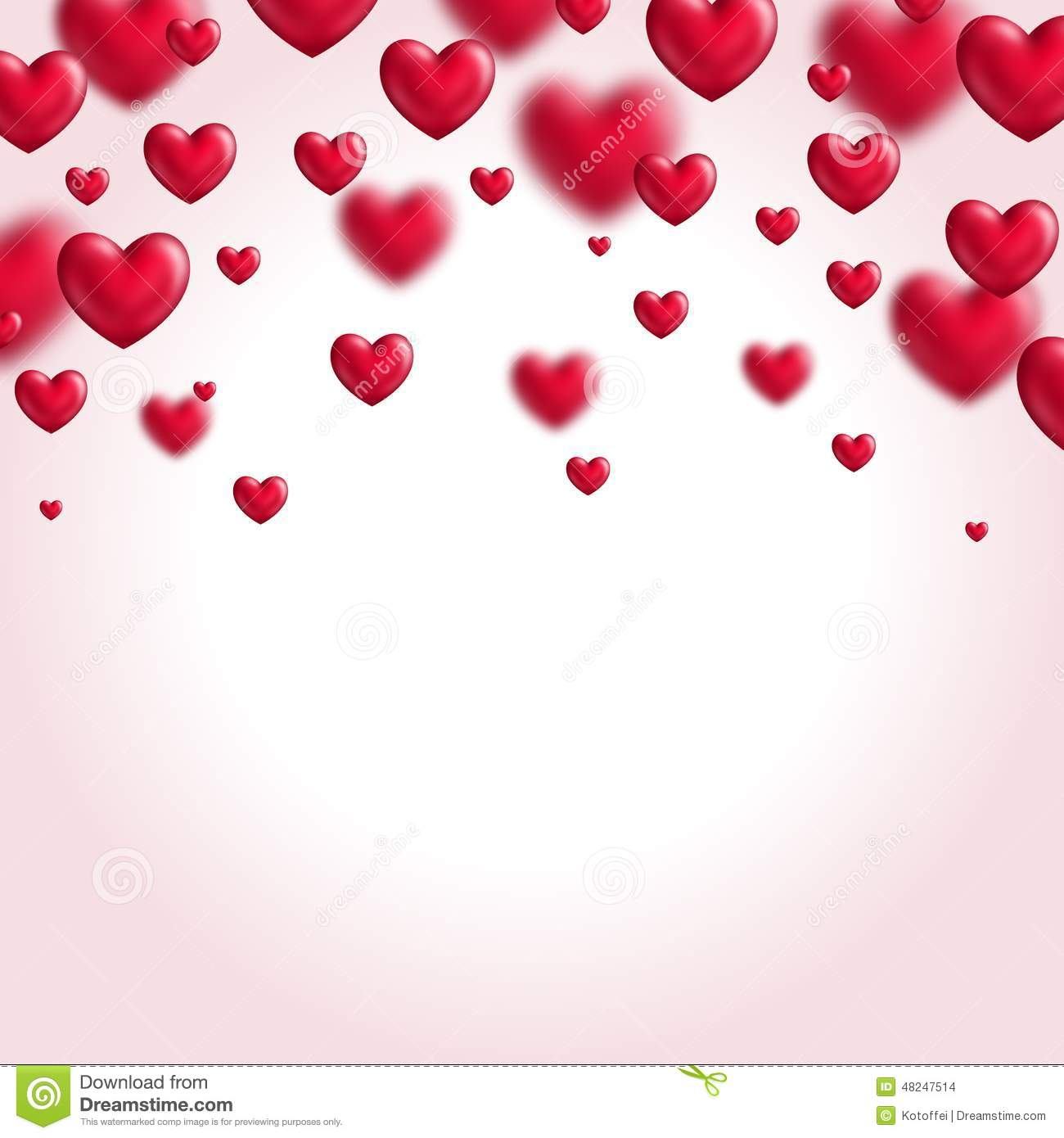 Valentines Day Background With Flying Hearts Stock Vector