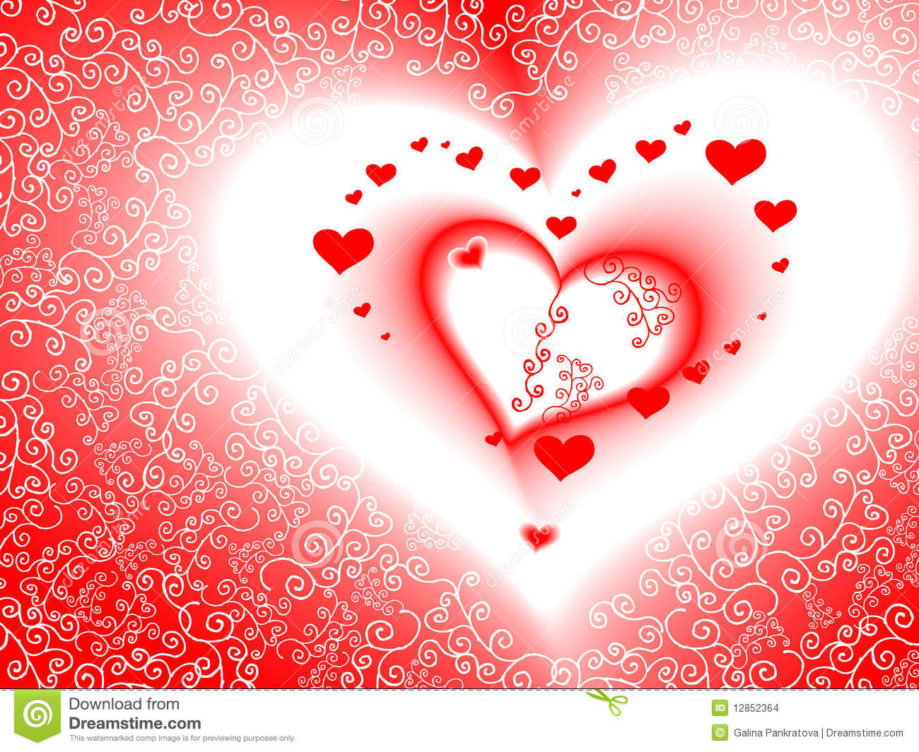 Car Wallpaper Bussines Card Valentine S Day Card Vector Romantic Heart Stock Images