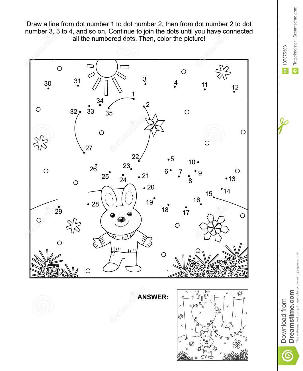 Valentine S Day Dot To Dot And Coloring Page With I Love