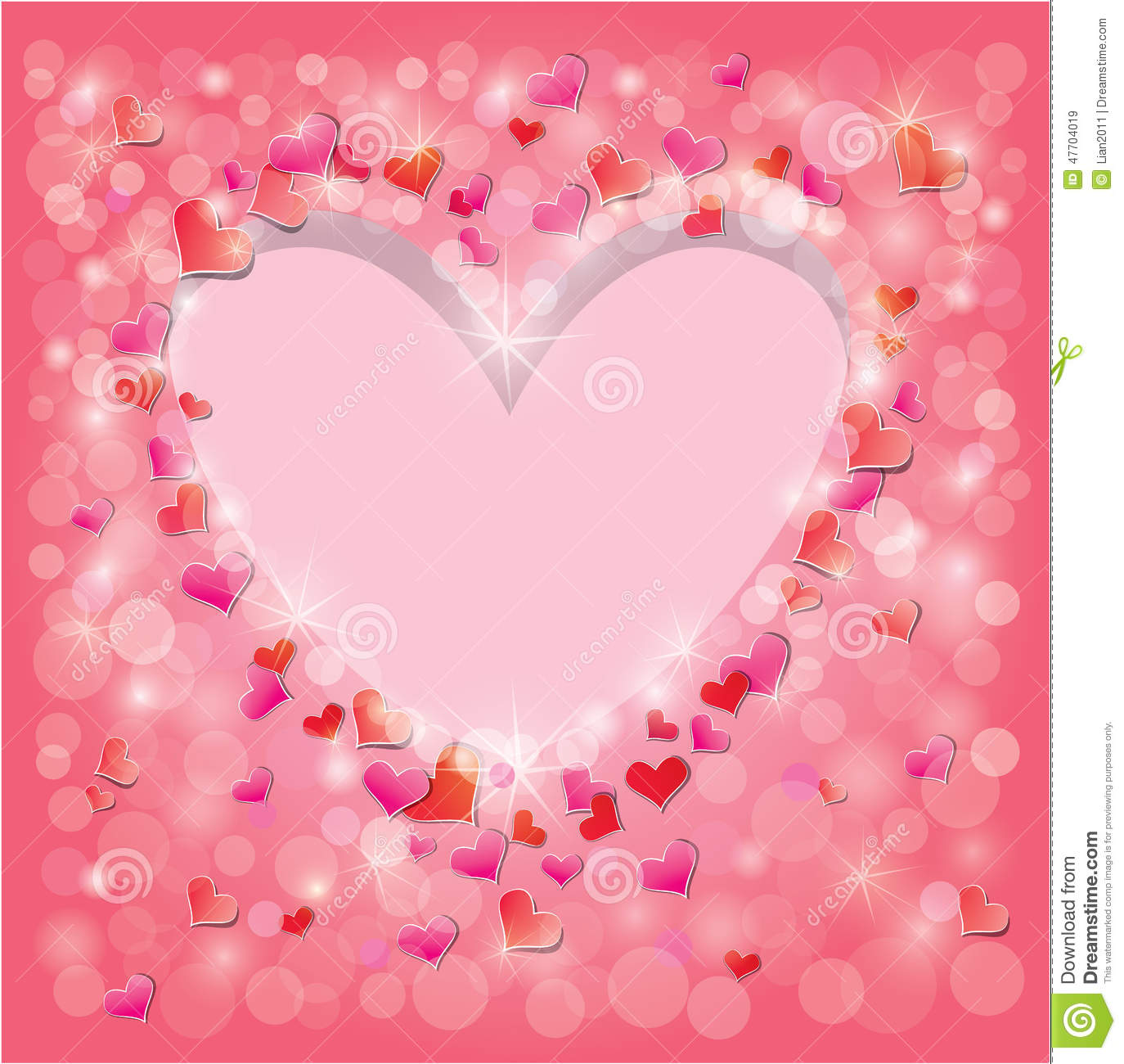 Valentines Day Or Wedding Pink Background Stock Vector