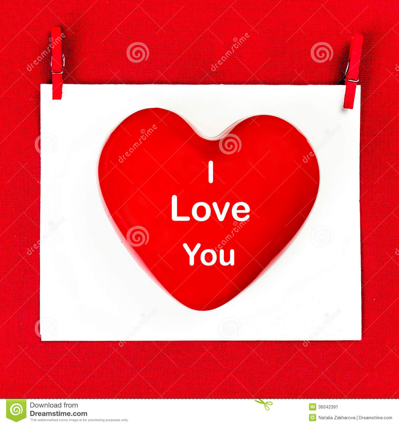 Valentines Day Background With Greeting Text I LOVE YOU