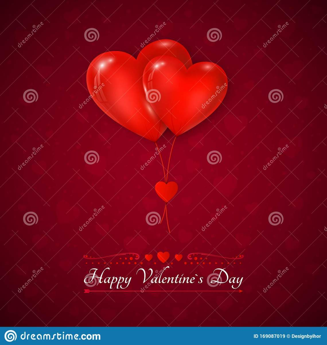 Download Valentines Day Greeting Card. Couple Air Balloons Red ...