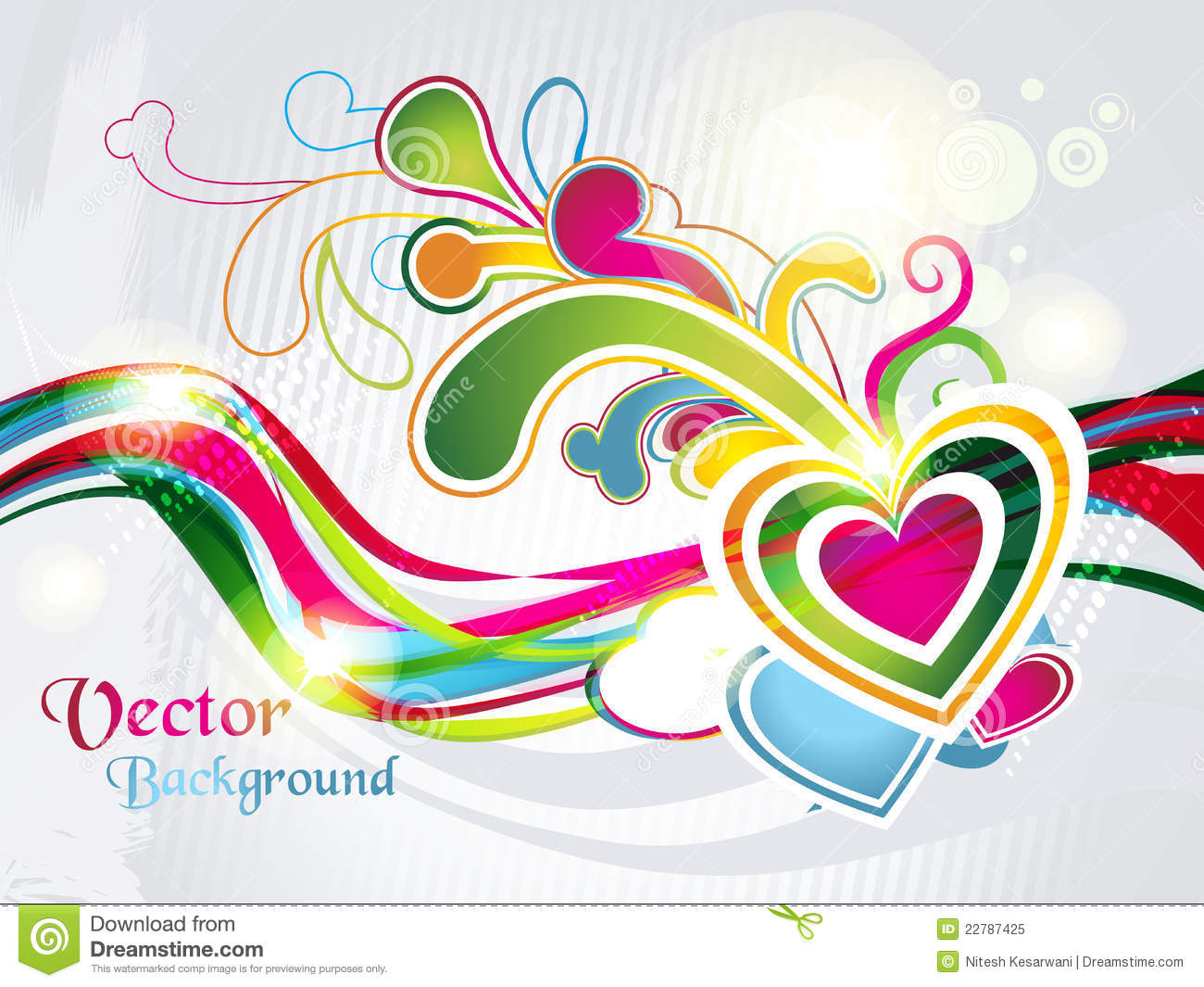 Valentines Hearts Shapes Background Stock Vector